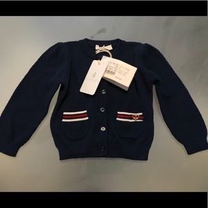 Baby Gucci Cardigan Blue Shirt 3/6 months Cotton
